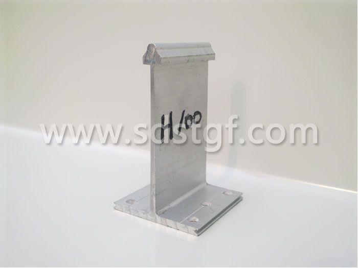 H100铝合金固定支座铝镁锰板支座